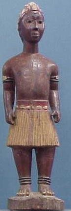 16: AKAN COLONIAL CARVED/PAINTED MALE FIGURE
