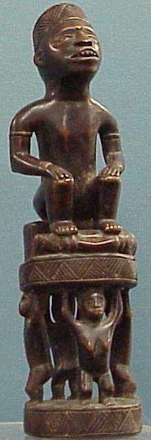 BAKONGO CARVED FIGURE OF A CHIEF