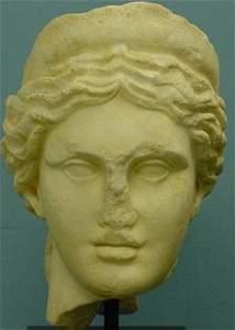 289: ROMAN LIFE SIZE MARBLE HEAD-VENUS