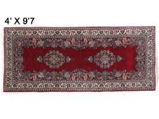 SEMIANTIQUE CENTRAL PERSIAN CORRIDOR RUG 4 X 97