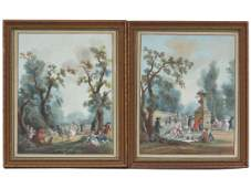 FRENCH SCHOOL (18TH CENTURY), LOT (2) WATERCOLOR AND
