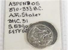 PAMPHYLIA ASPENDOS, AR STATER (WRESTLERS/SLINGER)