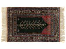 "ANTIQUE CAUCASIAN PRAYER RUG. 3'3"" X 4'8"""