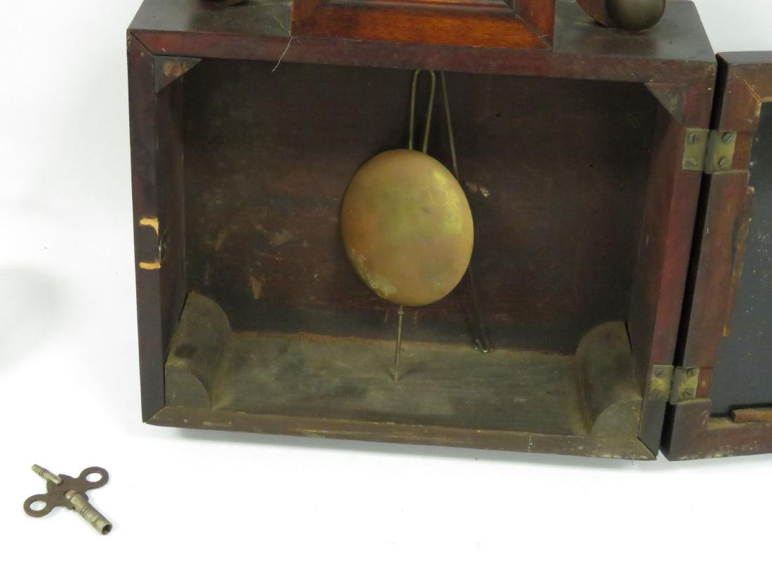 VINTAGE INGRAHAM MAHOGANY BANJO CLOCK, 19/20TH CENTURY. - 3