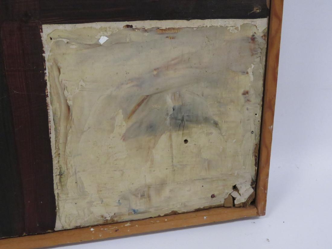 AMERICAN SCHOOL (20TH CENTURY) OIL ON ART BOARD, - 3