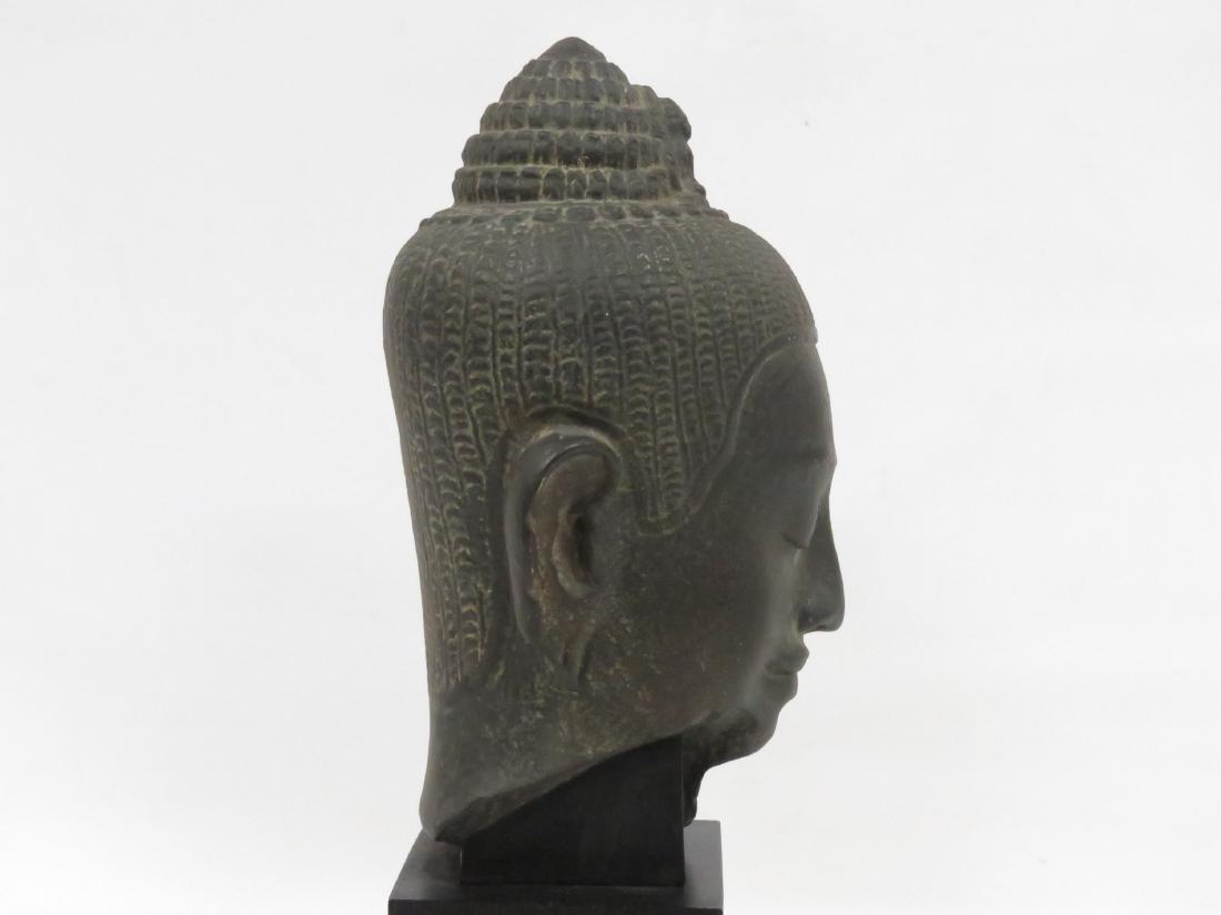 LOUVRE MUSEUM REPLICA, GANDHARA SCHIST HEAD OF BUDDHA. - 2