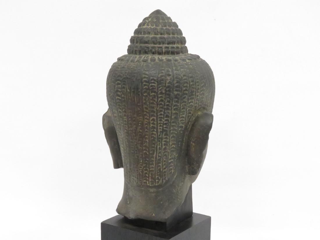 LOUVRE MUSEUM REPLICA, GANDHARA SCHIST HEAD OF BUDDHA. - 3