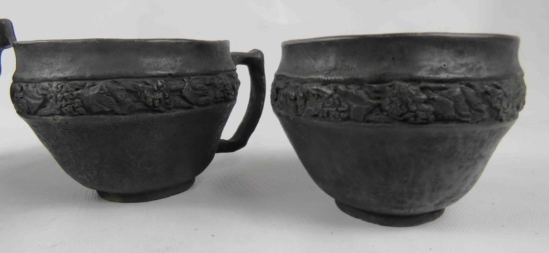 LOT (4) ASSORTED BLACKWARE POTTERY, SIGNED INCLUDING - 2
