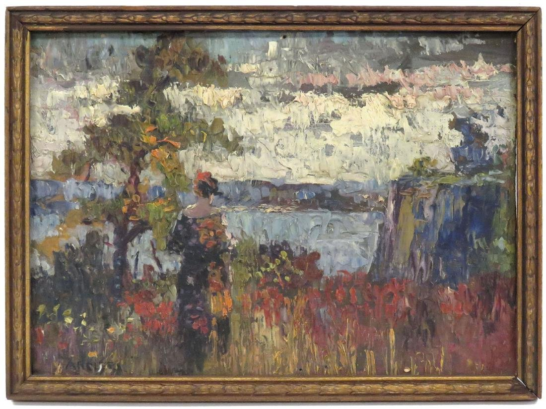 CHARLES FRANK ARCIERI (AMERICAN 1885-1945) OIL ON