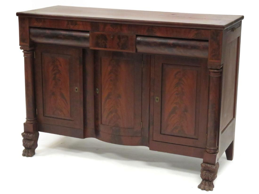 FEDERAL CARVED MAHOGANY SIDEBOARD, 19TH CENTURY. HEIGHT