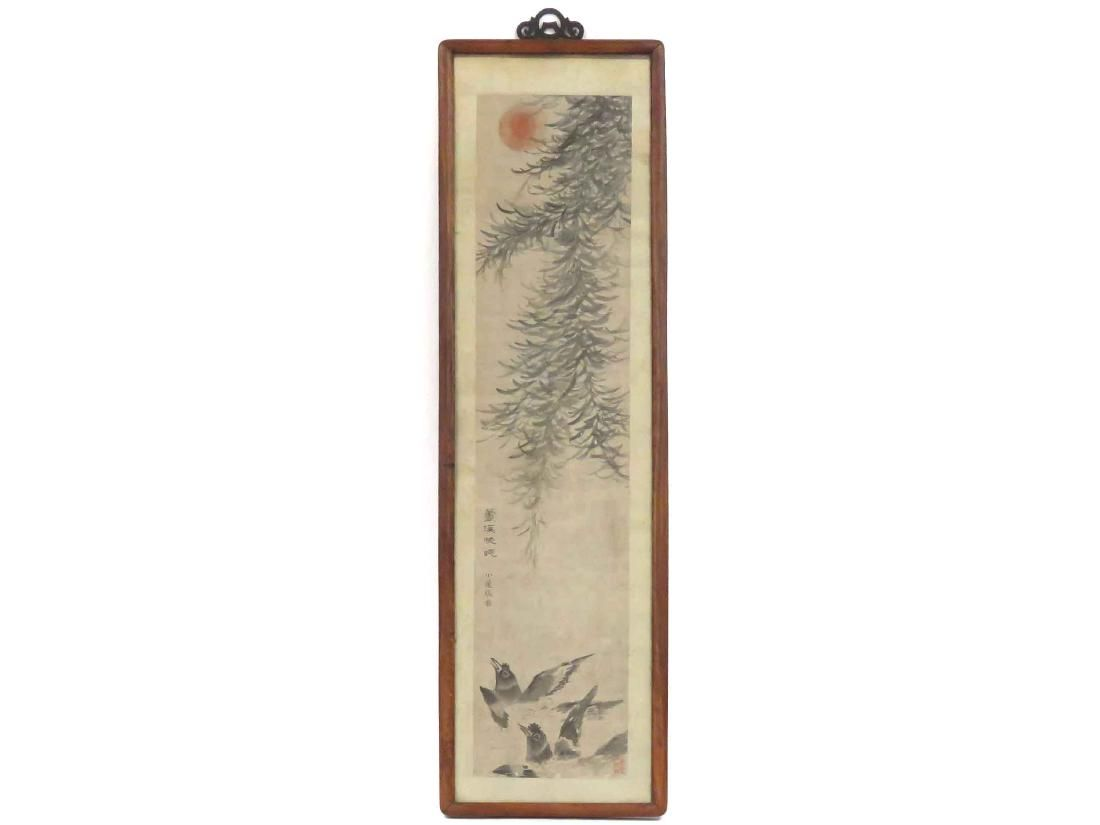 CHINESE SCHOOL (18TH CENTURY), INK ON PAPER SCROLL