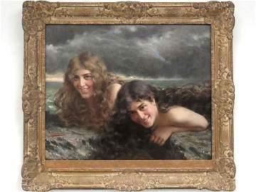 VITTORIO REGGIANINI (ITALIAN 1858-1939), OIL ON CANVAS,