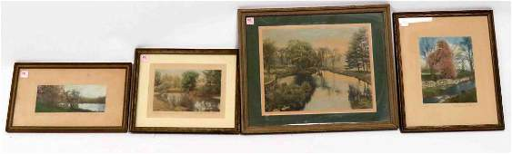 LOT 4 VINTAGE WALLACE NUTTING PRINTS INCLUDING HAND