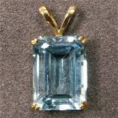 79 EMERALD CUT 1725 CT BLUE TOPAZ PENDANT