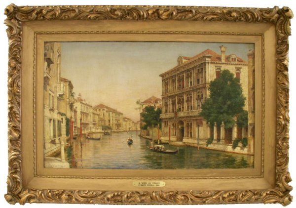 "183: PAINTING, ""A VIEW OF VENICE"", SIGNED L/C VIVIAN"