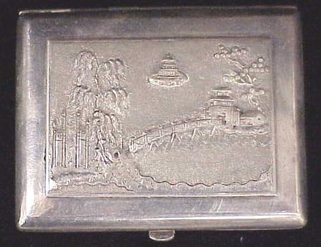 5: JAPANESE .900 SILVER CIGARETTE BOX