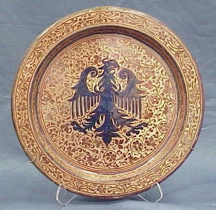 9: HISPANO-MORESQUE FAIENCE LUSTER CHARGER