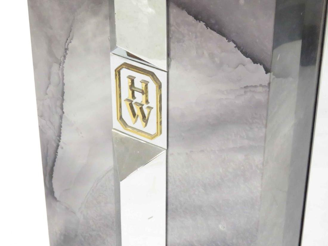 LOT (2) INCLUDING VINTAGE HARRY WINSTON STEEL/BRASS, - 2
