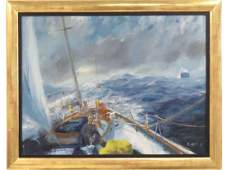 R. DAVIS (AMERICAN 20TH CENTURY), OIL ON CANVAS,