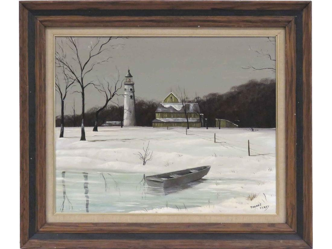 THOMAS KERRY (AMERICAN 20TH CENTURY), OIL ON BOARD,