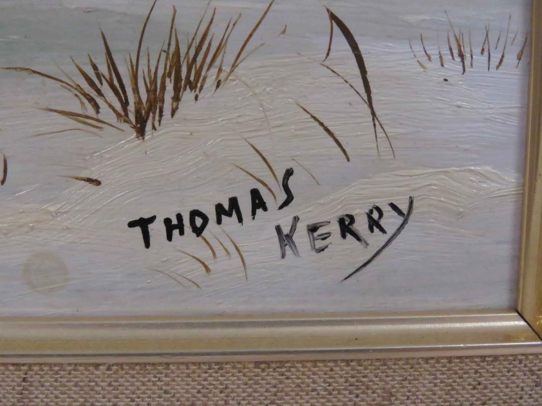 THOMAS KERRY (AMERICAN 20TH CENTURY), OIL ON BOARD, - 2