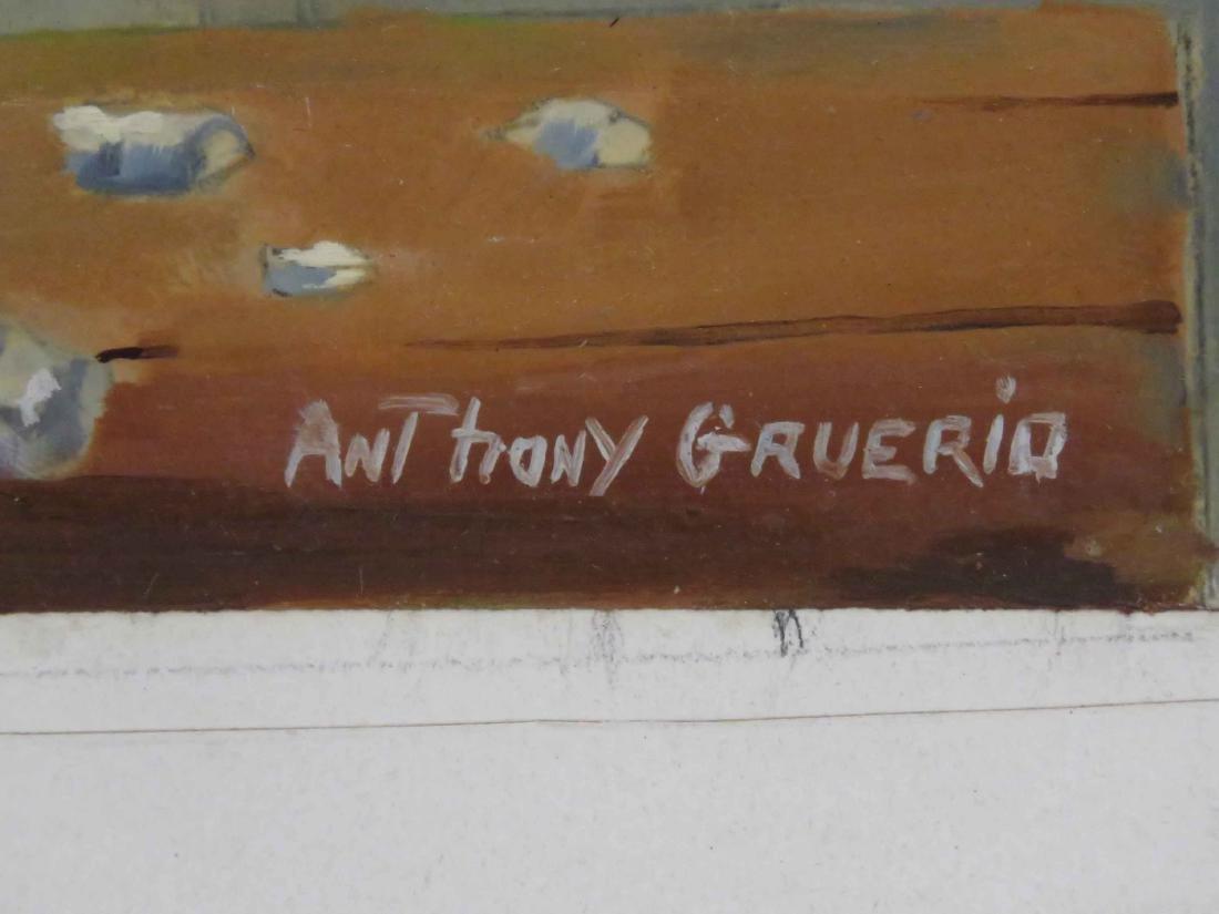 ANTHONY GRUERIO (AMERICAN 20TH CENTURY), OIL ON - 3