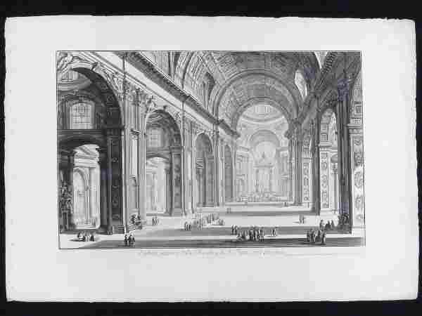 GIOVANNI BATTISTA PIRANESI (ITALIAN 1720-1778) ETCHING,