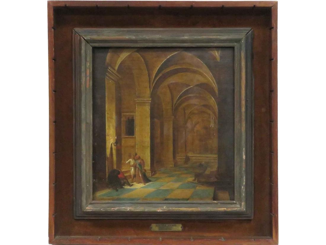 "DUTCH SCHOOL (18/19TH CENTURY), OIL ON BOARD, ""ESCAPE"