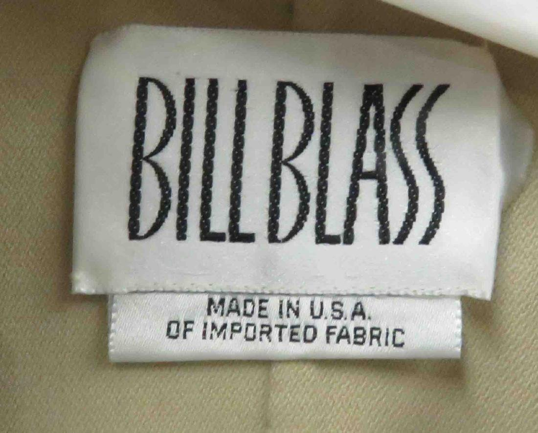 BILL BLASS BEIGE/BLACK IMPORTED FABRIC 2-PIECE PANT - 2