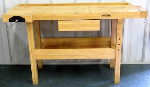 Outstanding White Gate Maple Workbench Height 34 Length 58 Short Links Chair Design For Home Short Linksinfo