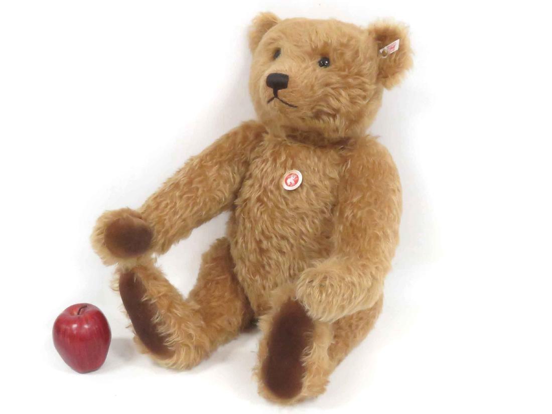 STEIFF JOINTED MOHAIR TEDDY BEAR WITH GROWLER. HEIGHT