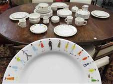 PARTIAL DINNER SERVICE, CYNTHIA ROWLEY FOR FISHS EDDY,