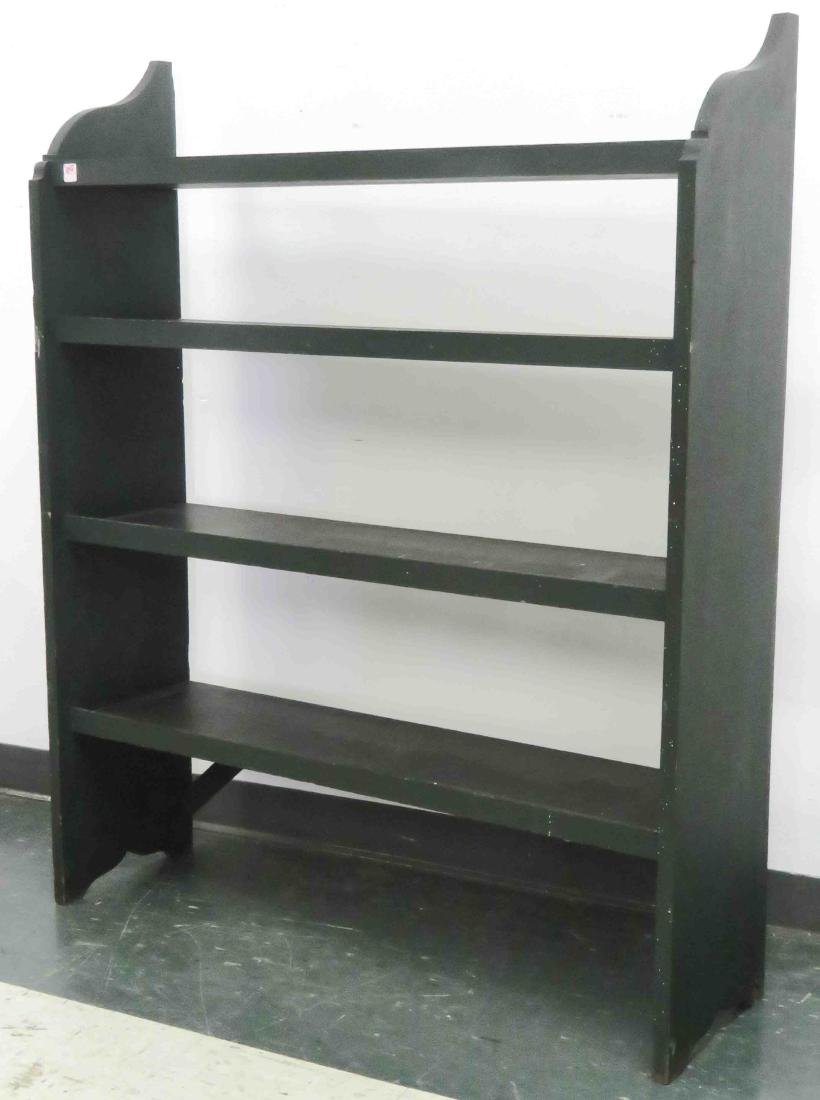 """COUNTRY PAINTED OPEN CROCK SHELF. HEIGHT 52""""; WIDTH 42"""""""