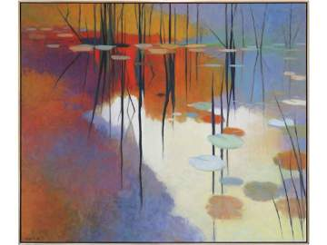 TADASHI ASOMA (JAPANESE/AMERICAN 1923-), OIL ON CANVAS,
