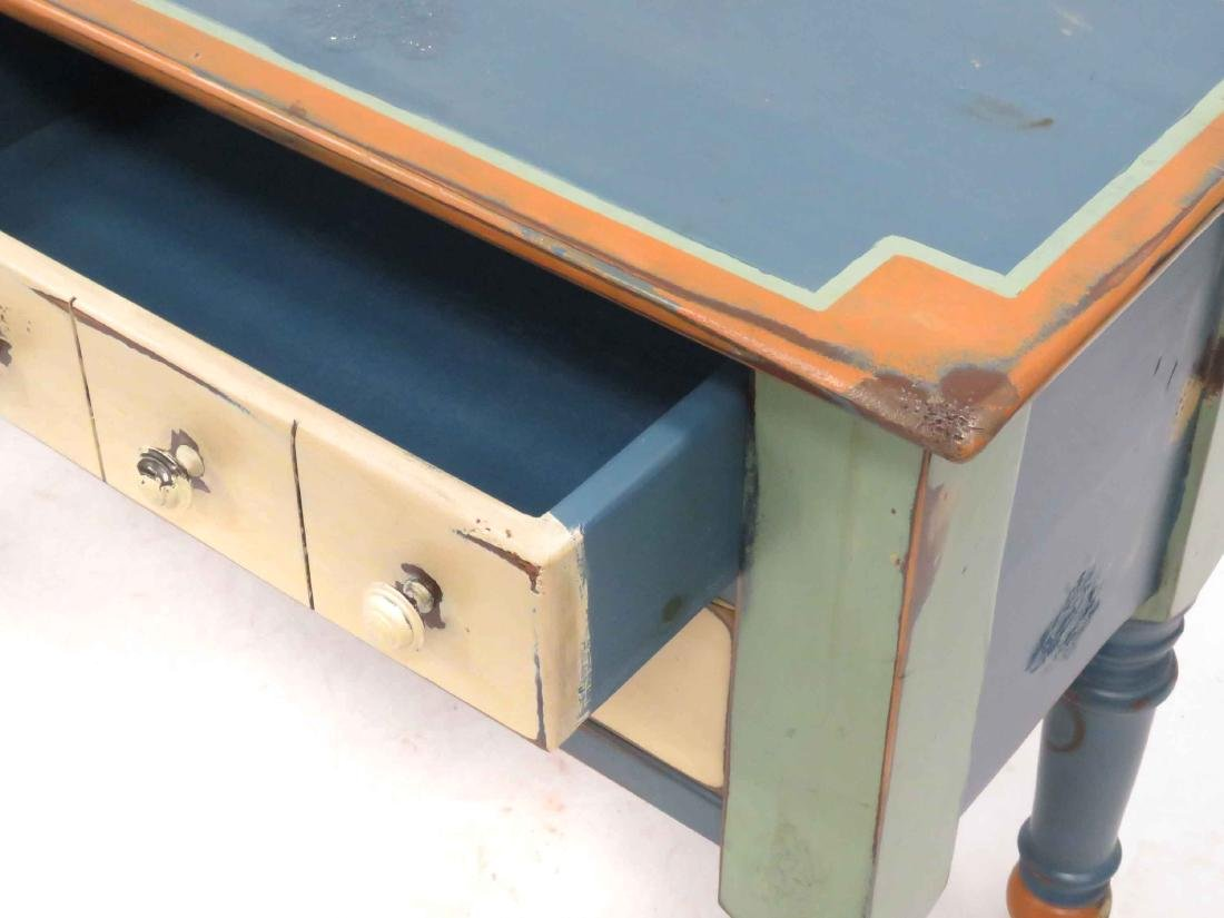 """COUNTRY MODERN PAINTED SIDE BOARD. HEIGHT 33""""; WIDTH - 2"""