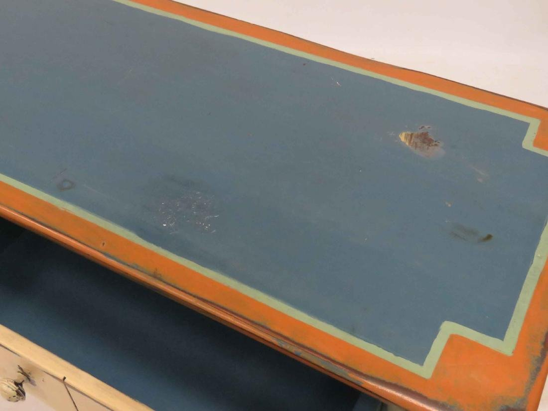 """COUNTRY MODERN PAINTED SIDE BOARD. HEIGHT 33""""; WIDTH - 3"""