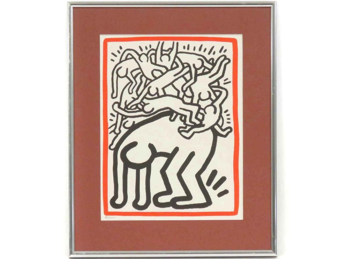 ATTRIBUTED TO KEITH HARING (AMERICAN 1958-1990), COLOR