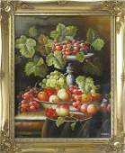 AMERICAN SCHOOL 20TH CENTURY OIL ON CANVAS FLORAL