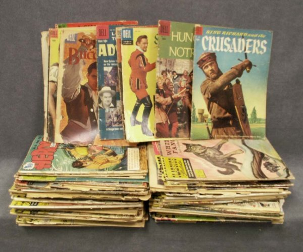 8: LOT (75+) VINTAGE COMIC BOOKS INCLUDING DELL COMIC