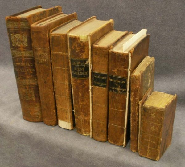 18: LOT (8) ASSORTED 19TH CENTURY LEATHER VOLUMES