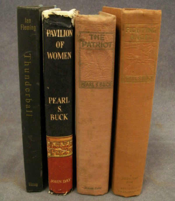 21: LOT (4) FIRST EDITIONS INCLUDING PEARL BUCK