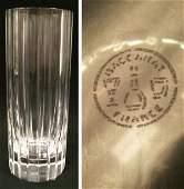 478 BACCARAT CLEAR CUT ART GLASS FLUTED CYLINDER VASE
