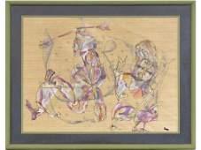 CHARLES KEELING LASSITER (AMERICAN 1926-2005), INK &