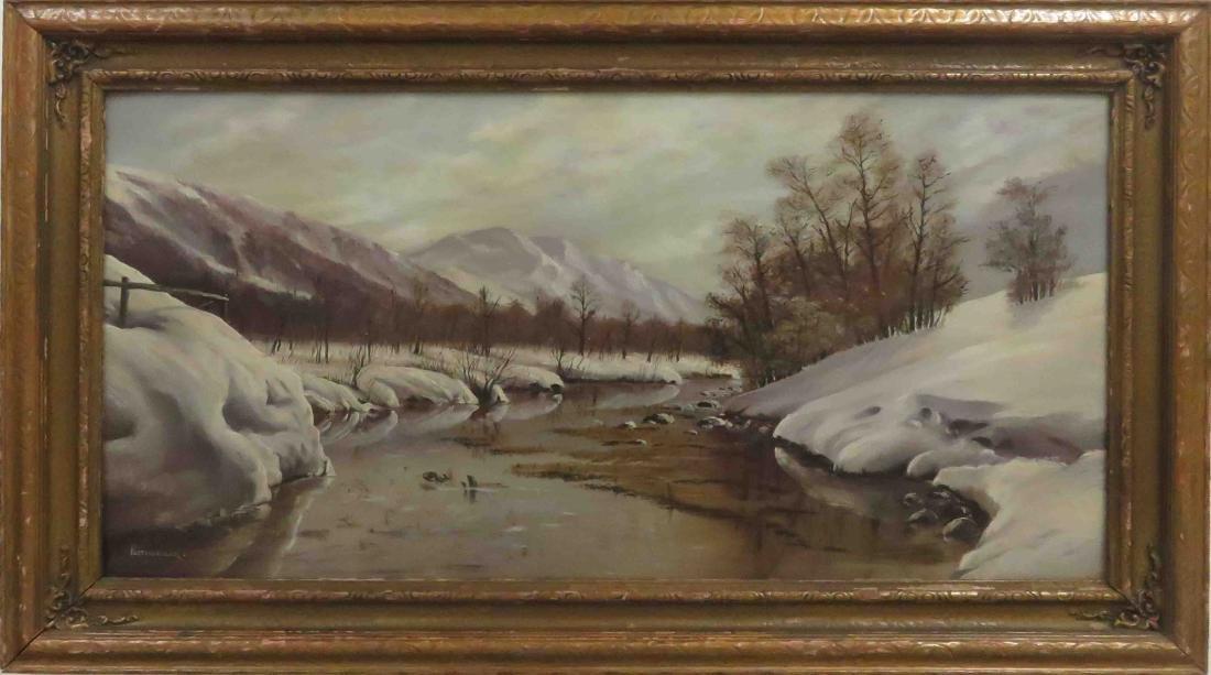 AMERICAN SCHOOL (20TH CENTURY), OIL ON ARTIST BOARD,