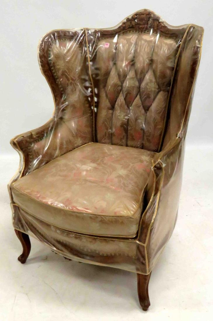 FRENCH REVIVAL CARVED FRUITWOOD ARMCHAIR