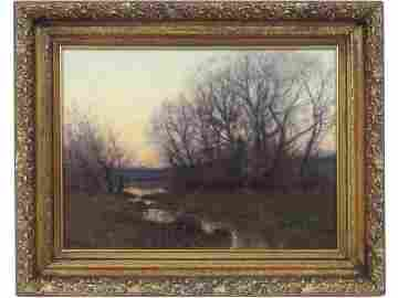 WILLIAM MERRITT POST (AMERICAN 1856-1935), OIL ON