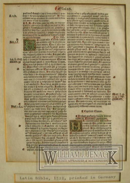 1014: ILLUMINATED PAGE, LATIN BIBLE, GERMANY C.1522