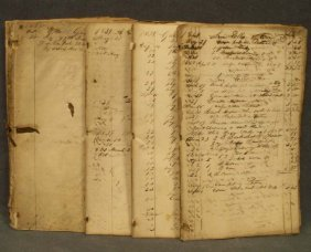 LOT ASSORTED 19TH CENTURY STORE LEDGERS, C.1835-4