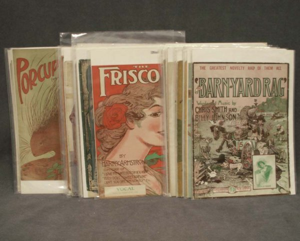 1105: LOT (29) ASSORTED VINTAGE SHEET MUSIC-RAGS
