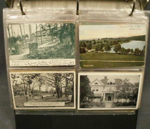 1112: ALBUM VINTAGE POSTCARDS DEPICTING SITES IN MONROE